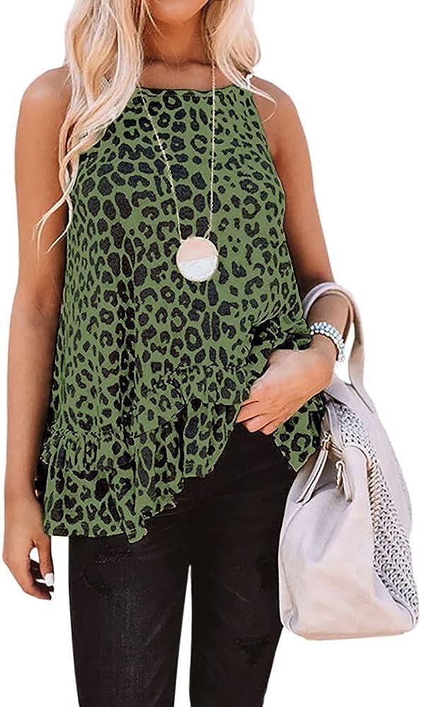 Cutie Patootie Girls Leopard Print Cami Tank
