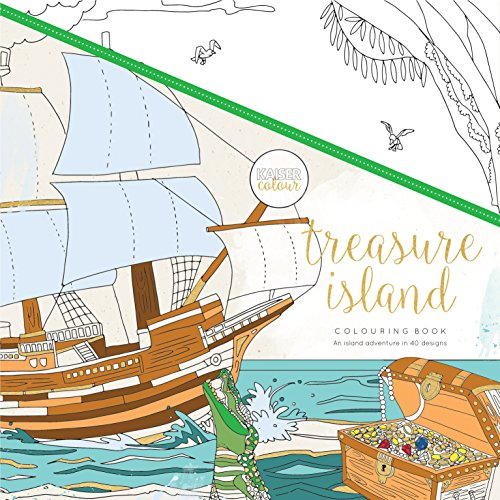 KaiserColour Perfect Bound Coloring Book 9.75''X9.75''-Treasure Island by Kaisercraft