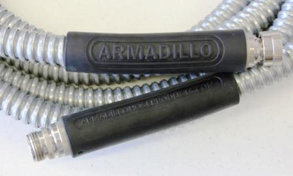 Amazon.com : Armadillo Hose DH15 1/2-Inch by 15-Foot Galvanized Steel Dura-Hose : Garden Hoses : Garden & Outdoor