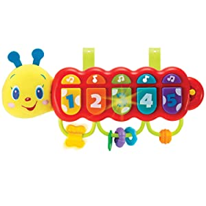KiddoLab Lira The Caterpillar, Baby Music Light Up Toy Piano for 3 Months Age and Older Babies. Attachment for Crib, Stroller and Car Included. Learning Toys for Infants and Toddlers.