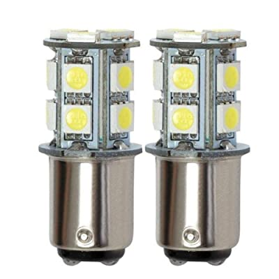 GRV Ba15d 1076 1142 High Bright Car LED Bulb 13-5050SMD DC 12V Cool White Pack of 2: Automotive