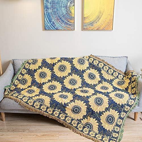ARIESDY - Manta de algodón 100% Tejido para sofá, Funda de algodón ...