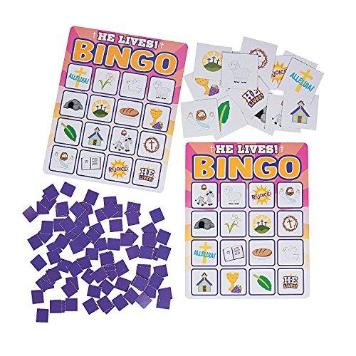 Fun Express - He Lives Bingo for Easter - Toys - Games - Carnival & Bingo - Easter - 22 Pieces