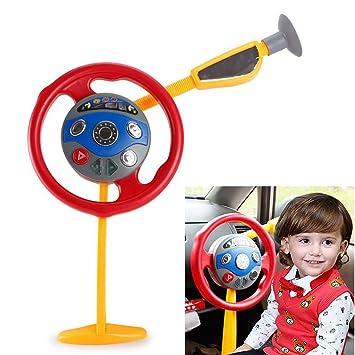Electronic Backseat Driver Car Seat Steering Wheel Kids Children Driving Toy