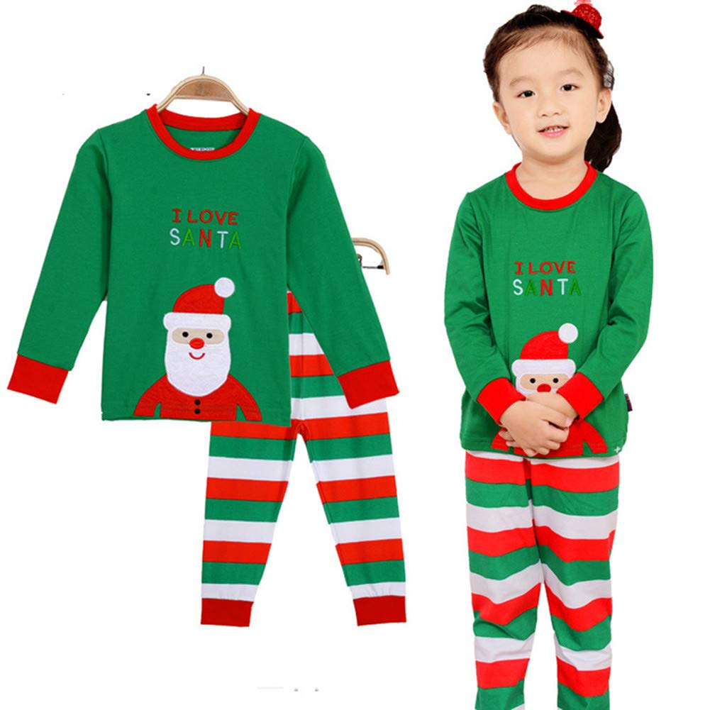 Niños Bebés y Niños, Stillshine - Xmas Kids Set de Pijamas de Navidad Santa Claus Ropa de Cama de Algodón de Dibujos Animados de Manga Larga (3Y-95CM, ...