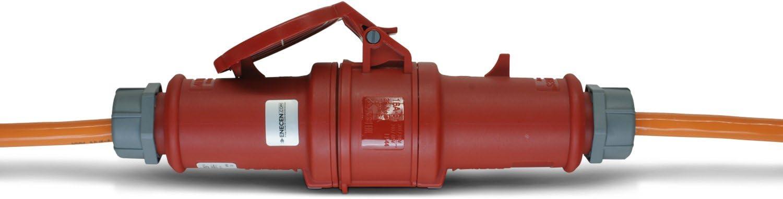 ENECEN 1113405 CEE-Verl/ängerungskabel 400V//16A IP44 PUR H07BQ-F 5x2,5 mm/² mit ST//KU 5-polig 5m
