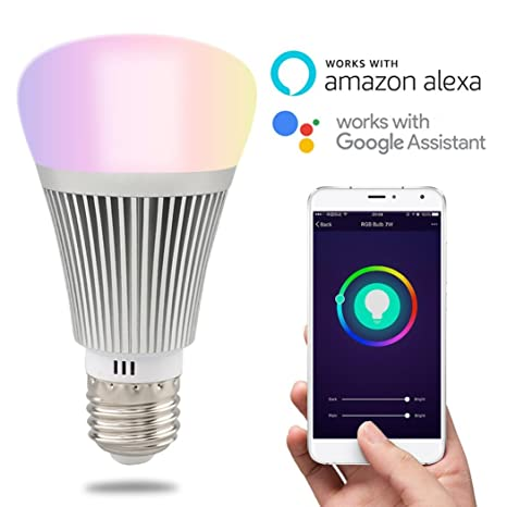 HEANTTV Smart Light, Sonoff B1 Wifi Dimmable Light, Multicolor Color  Wireless Light, Led Remote Light, Timer Light By Phone Control, Wake up  lights