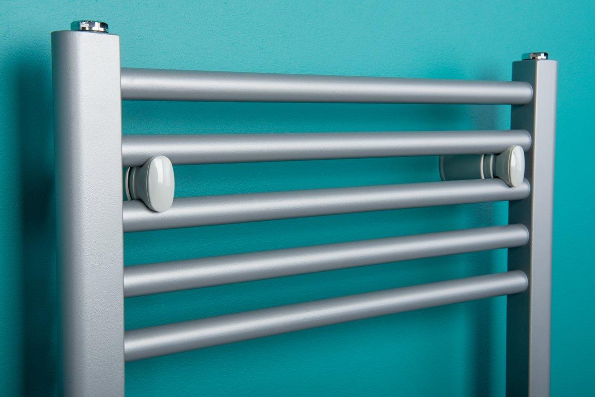 Termoarredo scaldasalviette radiatore design cromato piano tubi