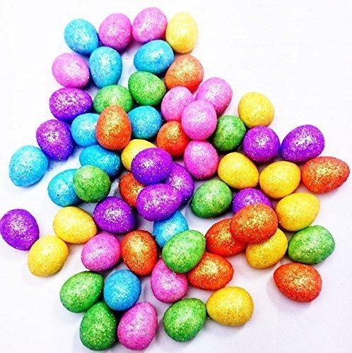 60 Glitter Mini Easter Eggs Hat Bonnet Party Decoration Art Craft Fun Gift School Concept4u