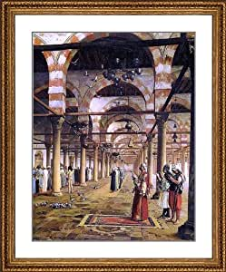 """Jean-Leon Gerome Prayer in the Mosque - 22.25"""" x 26.25"""" Matted Framed Premium Archival Print"""