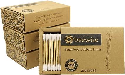 Bastoncillos de algodón de bambú x 800 | Producto y embalaje sin ...