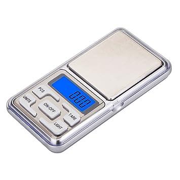 Báscula de bolsillo digital portátil para pesar objetos de hasta 500 g / Precisión de 0,01 g.: Amazon.es: Hogar