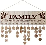 Joy-Leo Gifts - Wooden Family Birthday Reminder Calendar Board