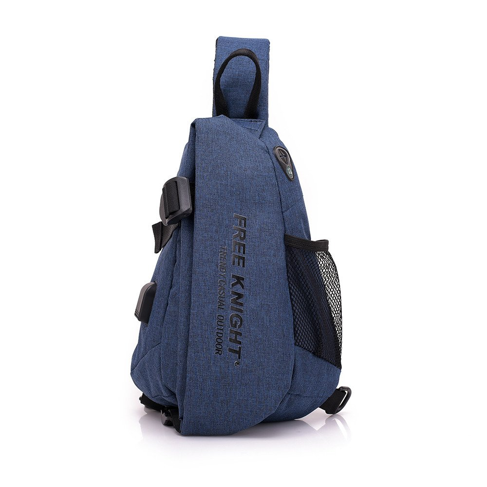 Men Chest Bag Shoulder Bag,Sports Chest Bag Shoulder Sling Backpack Sports Waist Bag with Earphone Hole & USB Charging Hole for Bicycle Sport Hiking Travel Camping Travel Outdoors by Hulorry (Image #1)