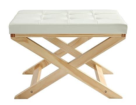 Orolay sgabello per pianoforte x panca con sedile imbottito bianco