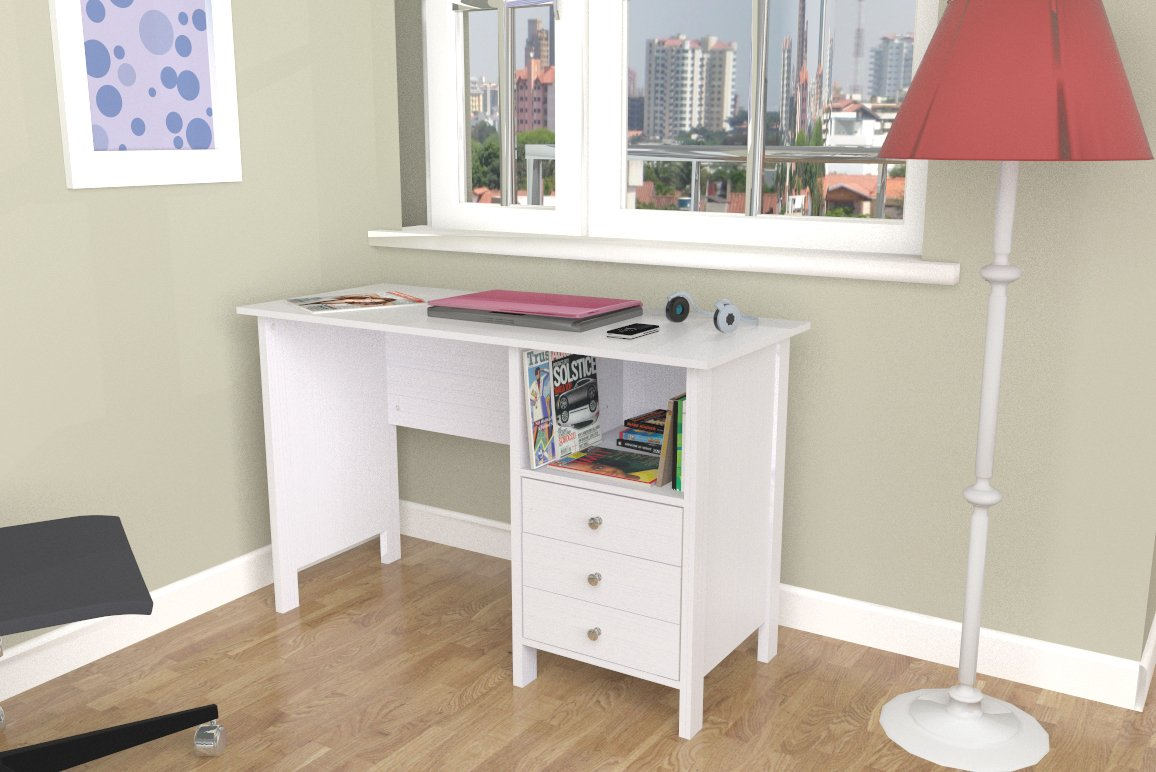 Inval ES 3303 Laura Collection Computer Desk by Inval America (Image #9)