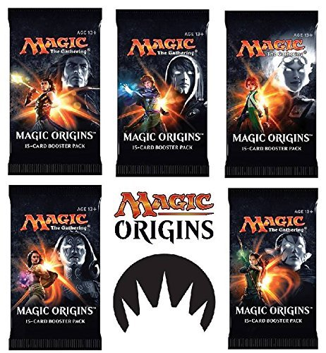 Origins Booster - 6 (Six) Packs of Magic: the Gathering - MTG: Magic Origins Booster Pack Lot (6 Packs)