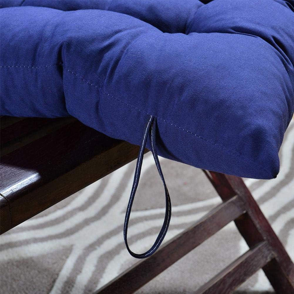 HANHAN Coj/ín de respaldo alto para silla de jard/ín mecedora cojines de patio tumbona de repuesto reclinable con corbatas