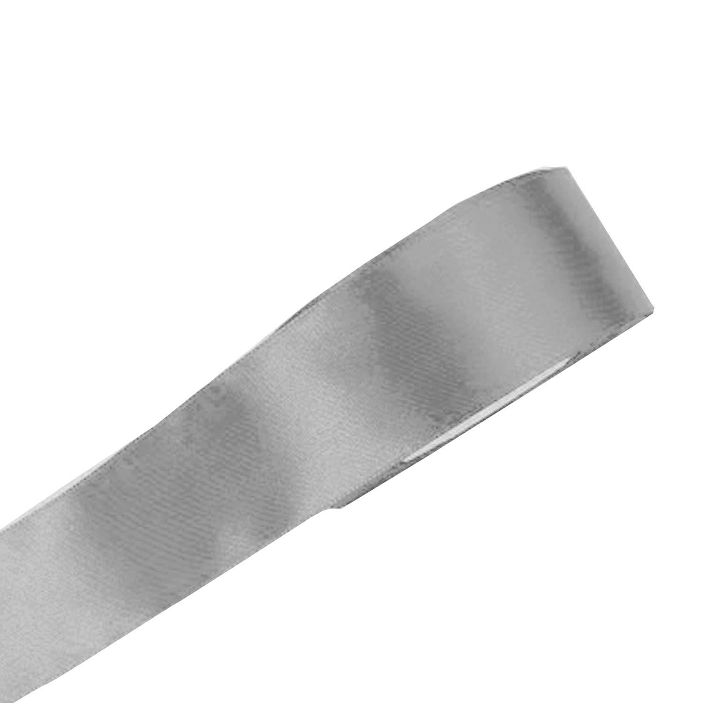 pattberg 15 mm 25 m de Cinta de Raso de Doble Cara Prasent C.E de Plata de Ley