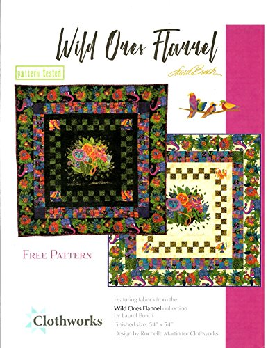 Clothworks Flannel - Cream Wild Ones Flannel Quilt Kit by Laurel Burch from Clothworks 100% Cotton Quilt Flannel Fabr 54