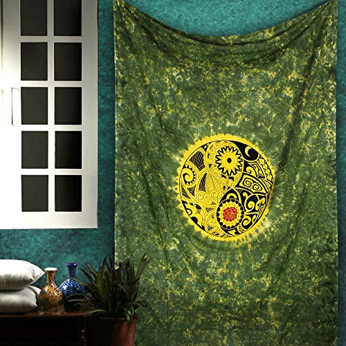 Boho Yin Yang Tapestry - Tie Dye Decorative Wall Hanging for sale  Delivered anywhere in USA