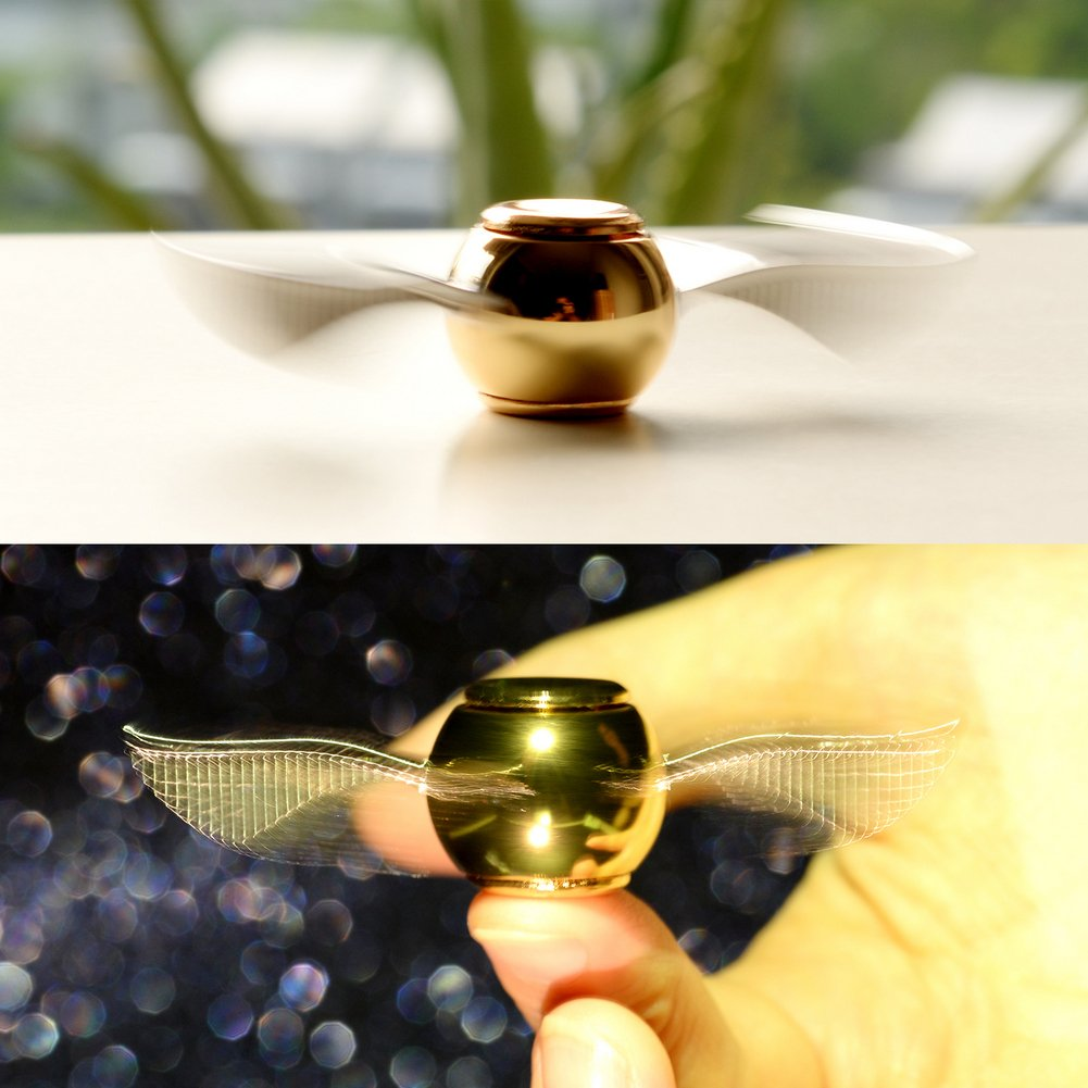 MAYBO SPORTS Wiitin Exclusive Harry Potter Fidget Hand Spinner Toy Made by Metal, The Original Golden Snitch Used in Quidditch by MAYBO SPORTS (Image #4)
