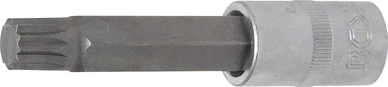 L/änge 100 mm 12,5 mm Bit-Einsatz M5 BGS 4359 | Innenvielzahn 1//2 f/ür XZN