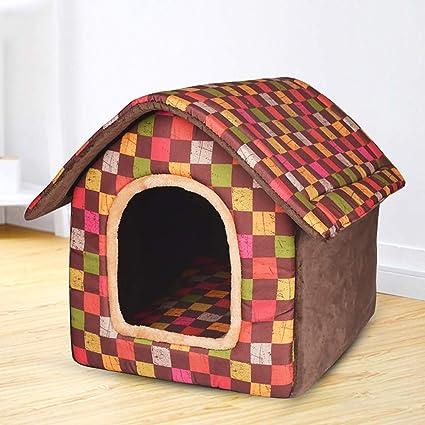 Caseta para Mascotas Caseta Plegable Lavable Perro pequeño Perro Mediano Perro Grande Cama para Mascota Casa