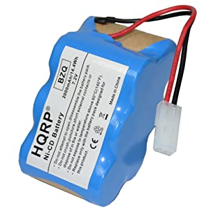 HQRP 7.2V Battery for Euro-Pro Shark V1945Z XB1945W XB1946W 2-Speed Cordless Sweeper #XB1946W XB1946 V1945 VX2 + Coaster
