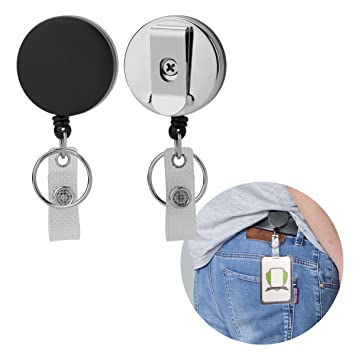 Amazon acelist heavy duty all metal retractable badge holders acelist heavy duty all metal retractable badge holders badge reel with belt clip for id badge solutioingenieria Image collections