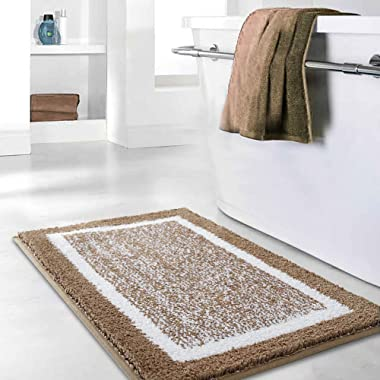 Bathroom Rug Mat, Ultra Soft and Water Absorbent Bath Rug, Shower Mats, Machine Wash/Dry, for Tub, Shower, and Bath Room