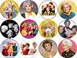 Set of 12 Golden Girls TV Sitcom Pinback Buttons