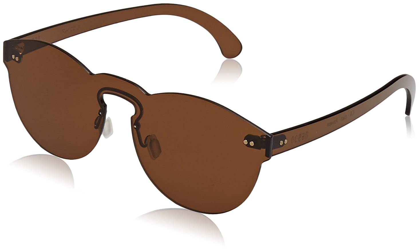 Ocean Eye Gafas de Sol, (Marrone), 55 Unisex Adulto