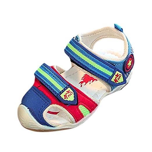 1232f4b8 LED Sandalias de Verano Xinantime Zapatos Deportivos para niños pequeños  Sandalias de bebé para niñas Zapatos