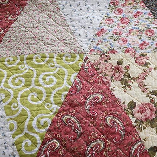 Couvre-Lit Lit Trois Pièces Pur Coton Fait À La Main Trois Pièces Lavage Appliquer À La Maison Adapté À La Maison