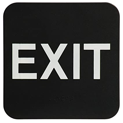 Amazon.com: Londres Productos de salud Exit Sign – Ada ...