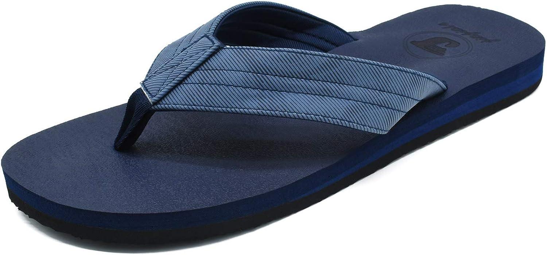 JIAJIALE Chanclas para Hombre Premium Zapatos de Playa y Piscina Rubber Beach Sandalias Zapatillas Soporte del Arco de casa