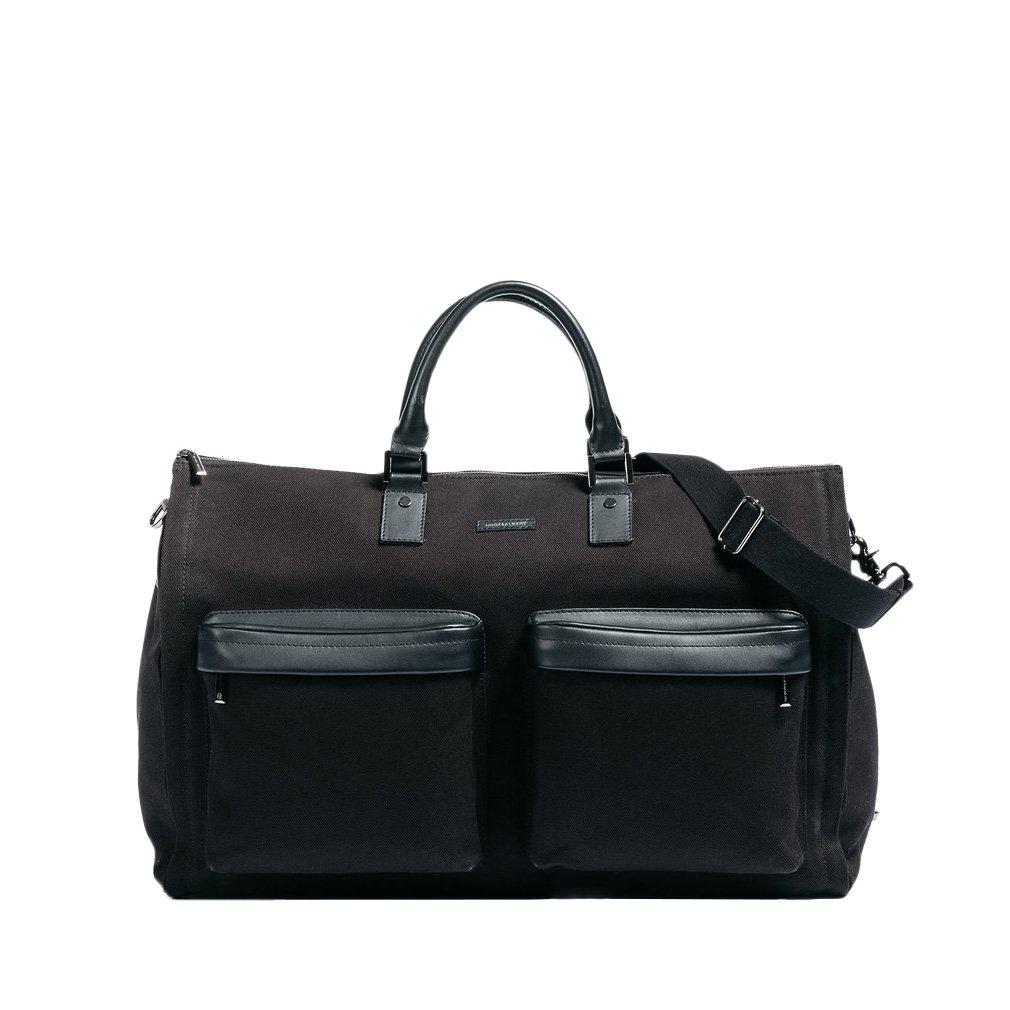 Hook and Albert Garment Weekender Bag, 22'' x 13'' x 10'' Travel Duffle - Black