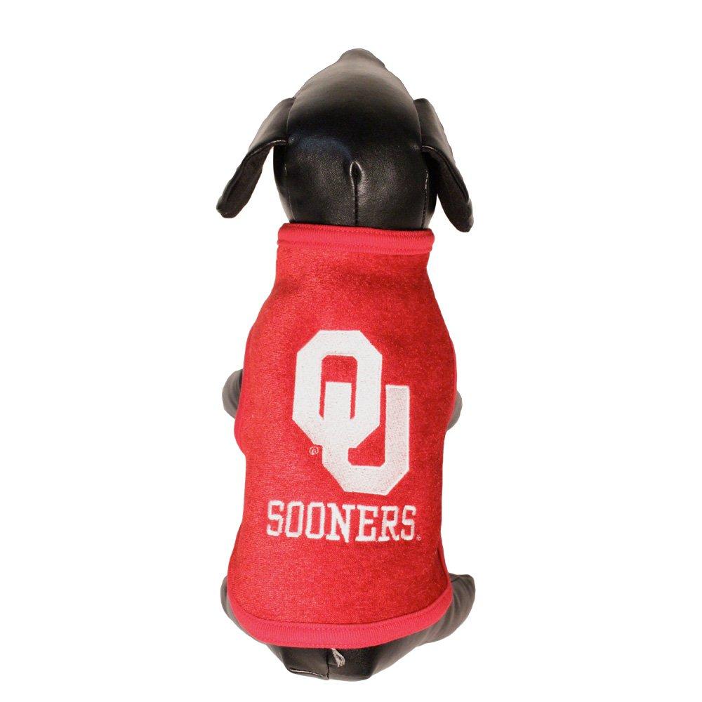 All Star Dogs NCAA Oklahoma Sooners Polar Fleece Dog Sweatshirt, X-Small