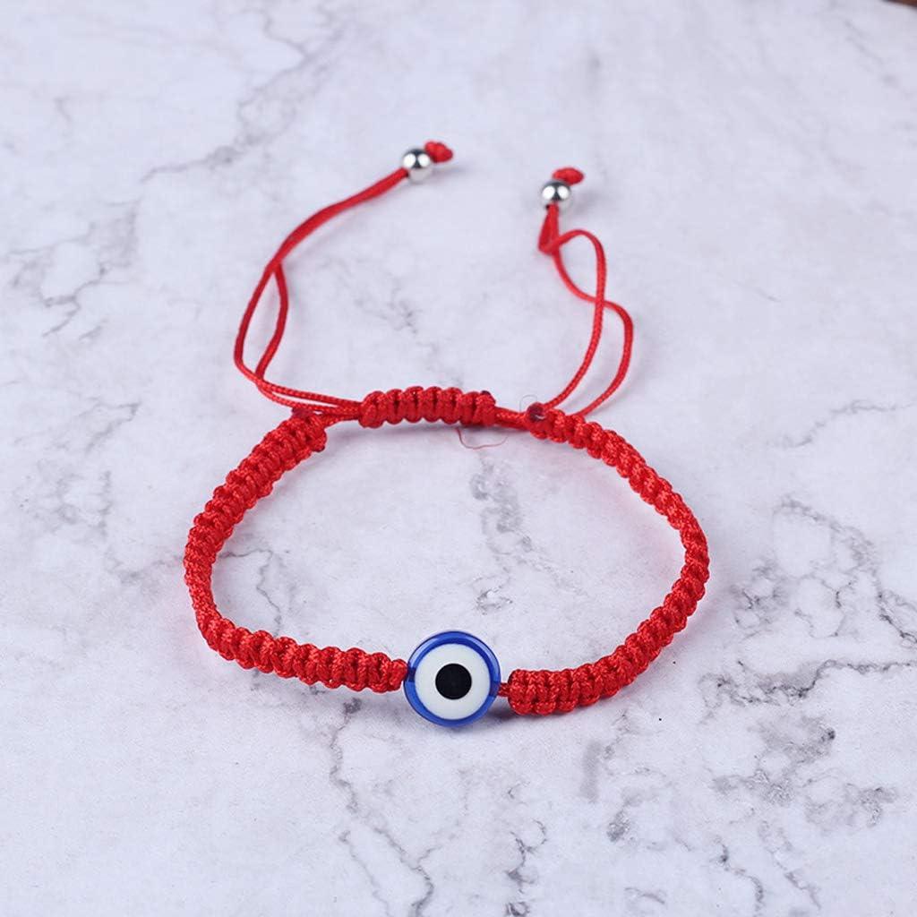 R/églable Amiti/é Rouge Cha/îne Mauvais Protection des Yeux Kabbalah Bracelets pour Filles Enfants suoryisrty Chanceux /À La Main Bonne Chance Bracelet
