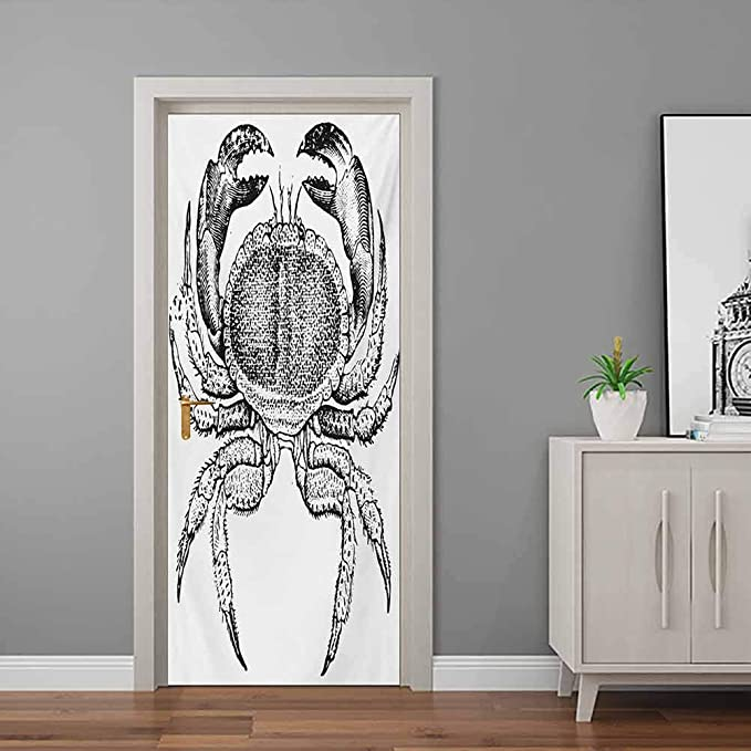 Seafood Themed Design Vintage Engraved Illustration of an Edible Crab Print Background for Baby Birthday Party Wedding Vinyl Studio Props Photography Crabs 10x15 FT Photography Backdrop