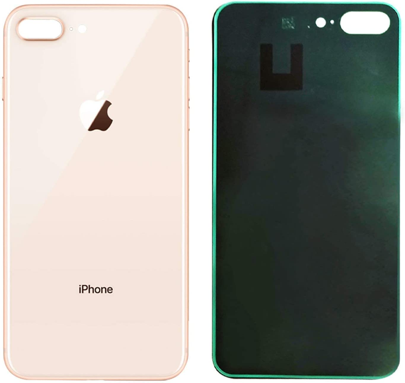 Apple iPhone 8 Replacement Back Glass Cover Back Battery Door w//Pre-Installed Adhesive,Best Version Apple iPhone 8 All Models OEM Replacement White