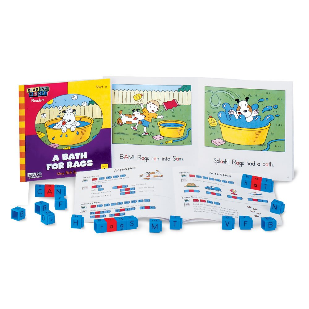 hand2mind Reading Rods Linking Cubes Library - Phonics Foundation 1