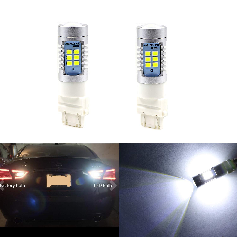Pack of 2 3156 3157 5630 4057 Extremely Bright White-6000K Light 5630 w//33 SMD LED T25 Bulbs for Back up//Reverse Light,Side Marker Light,Tail Brake Lamps