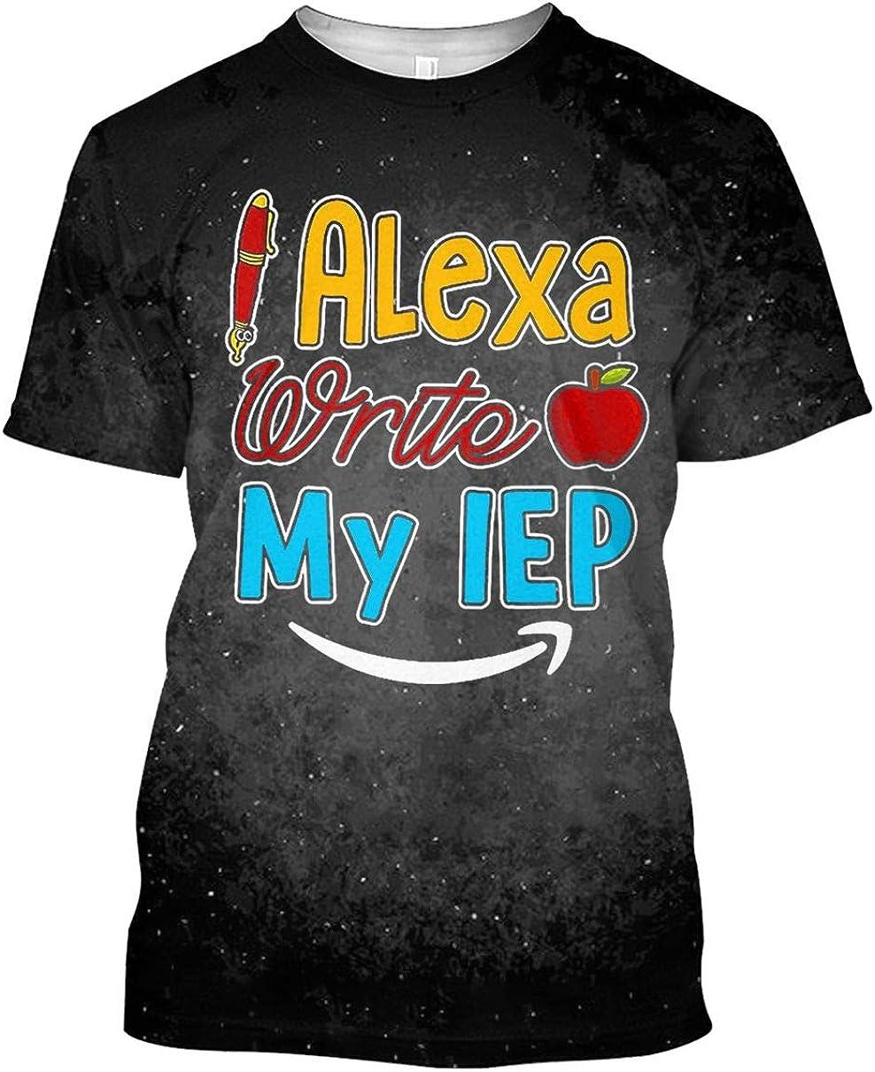 Alexa Write My IEP Apple Teacher Tshirt