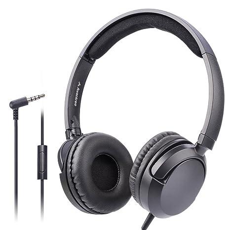 Amazon.com  Avantree Superb Sound Wired On Ear Headphones with ... cc002da24d
