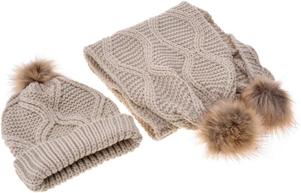 Jelinda Mujeres otoño invierno Hat punto y bufanda Set