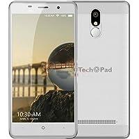 "Smartphone TechPad Cel M5 Plus: Procesador Quad Core (1.3 GHz), Memoria RAM de 1GB, Almacenamiento de 16GB, Pantalla IP de 5.5"", Red 802.11 b/g/n, Bluetooth, Android 5.0."
