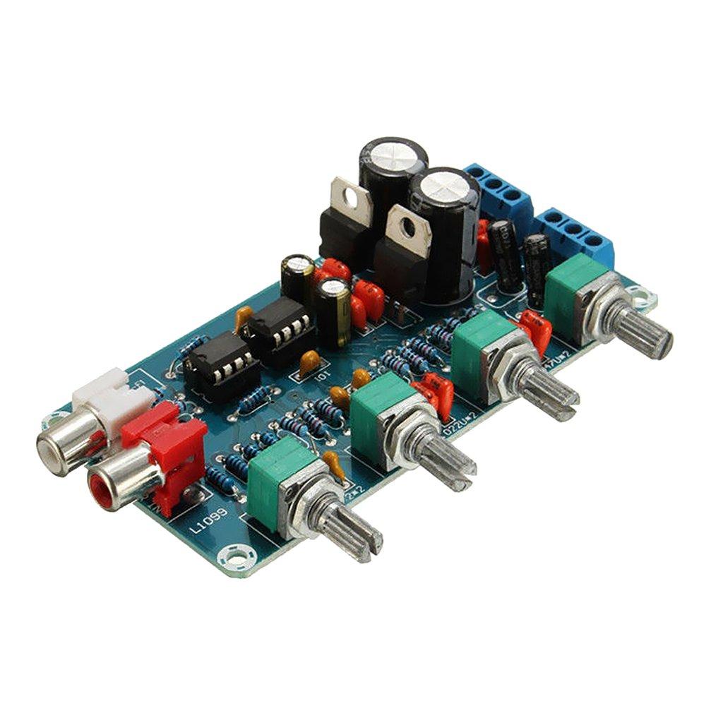 MagiDeal Ne5532 Amplificador Operacional Amplificador De Alta Fidelidad Tono De Volumen Eq Preamplificador Tablero De Control Diy: Amazon.es: Electrónica
