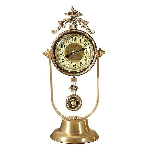 SESO UK Reloj de Mesa Retro Americano Reloj de latón no pulsátil ...